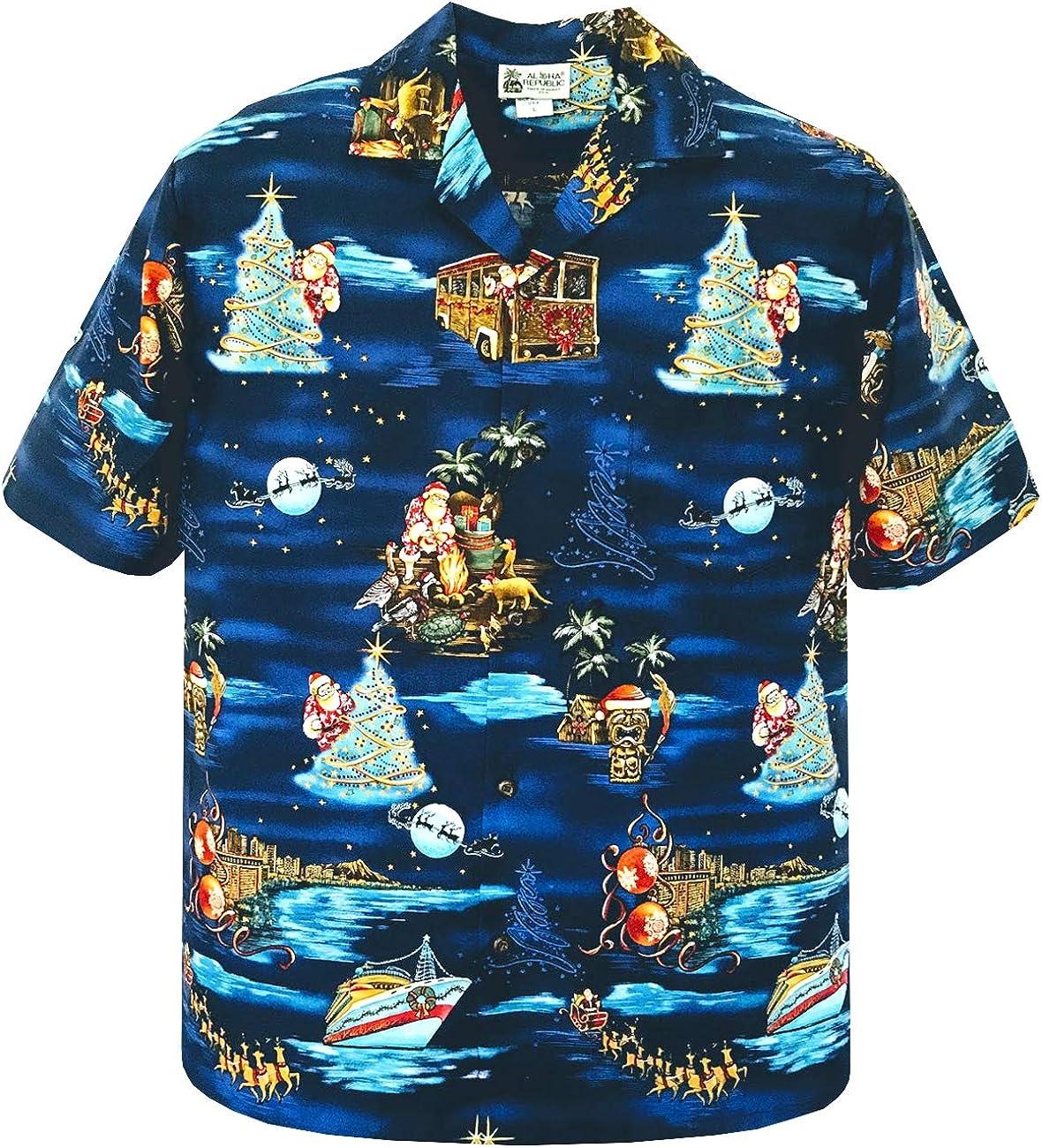 Christmas Holiday Santa Cruise Aloha Ship Challenge the lowest Cheap price of Japan ☆ Hawaiian Shirt