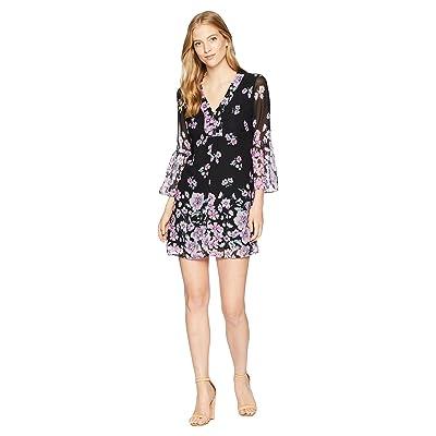 Nanette Lepore Revel Silk Print Shift Dress (Black Multi) Women