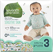 Seventh Generation Baby Diapers - Stage 3, Size 16- 28 lbs, 31 Count