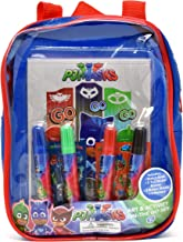 PJ Masks Coloring and Activity Book Set, Includes Markers, Stickers, Mess Free Crafts Color Kit in Mini Travel Backpack, for Toddlers, Boys and Kids