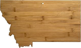 Totally Bamboo 20-7972MT Montana State Shaped Bamboo Serving & Cutting Board,