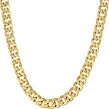 Lifetime Jewelry Gold Chain Necklace [ 6mm Miami Cuban Link ] 20X More 24k Plating Than Other Chains for Men or Women - The Look & Feel of Solid Gold - Lifetime Replacement Guarantee - 18 to 36 inches