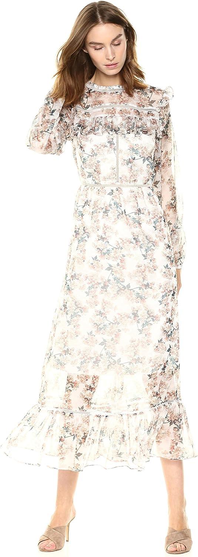 Glamgoldus Womens Floral Prairie Maxi Dress Dress