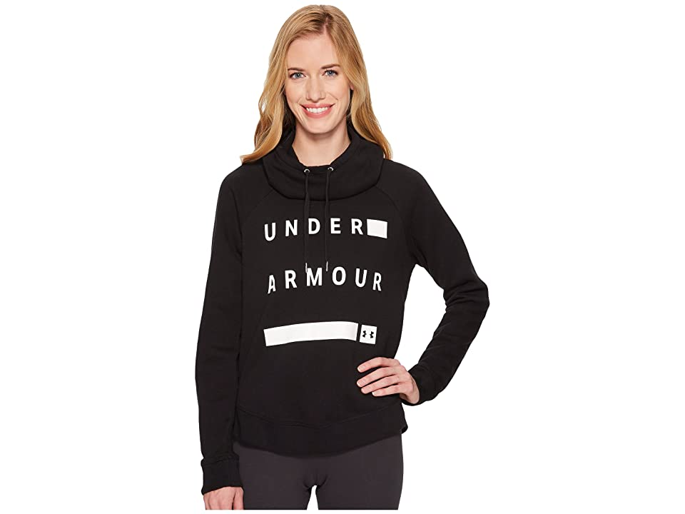 Under Armour Favorite Fleece Graphic Pullover (Black/White/White) Women