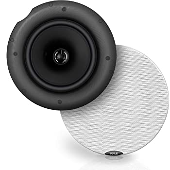 "Pyle Pair 6.5"" Bluetooth Universal Flush Mount in-Wall in-Ceiling 2-Way Speaker System Dual Polypropylene Cone & Polymer Tweeter Stereo Sound 300 Watts (PDICBT67), Black"