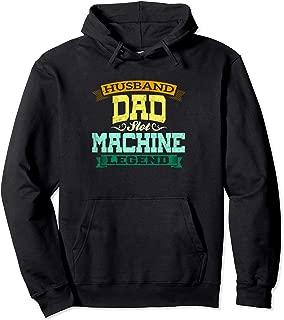 Husband Dad Slot Machine Legend Casino Gambling Lover Gift Pullover Hoodie
