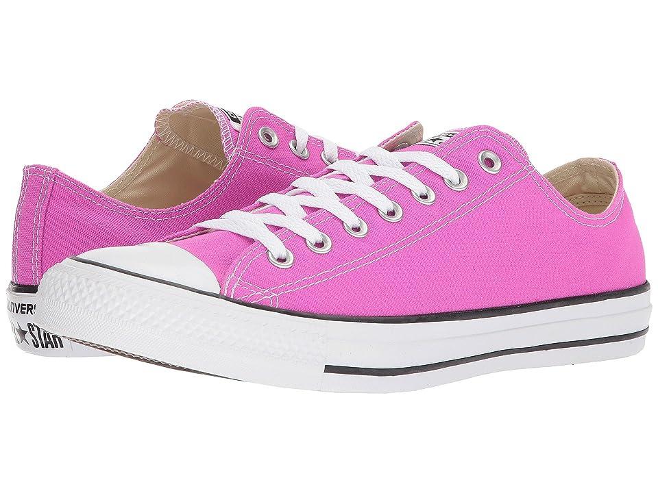 Converse Chuck Taylor All Star Seasonal Ox (Hyper Magenta) Athletic Shoes