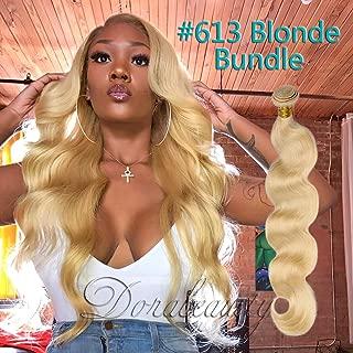 Dorabeauty Platinum Blonde Human Hair Bundle #613 Body Wave 100% Brazilian Remy Human Hair (20 inches Bundle)