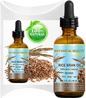 Sponsored Ad - RICE BRAN OIL. 100% Pure / Natural / Refined / Undiluted Cold Pressed Carrier Oil for Face, Body, Hair, Mas...