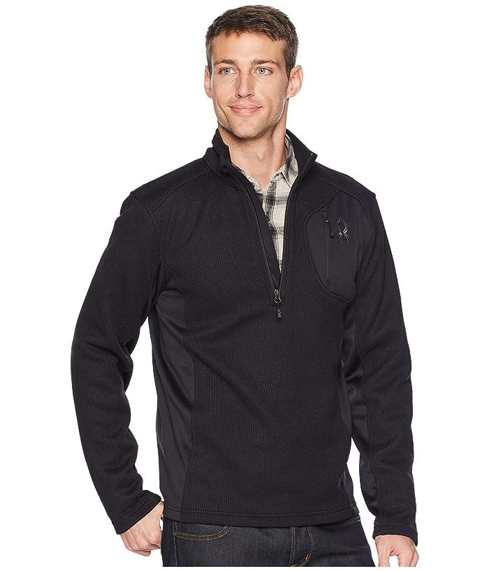 Bandit 1/2 Zip Stryke Jacket (Black/Black/Black) Men's Coat