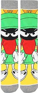 Men's Looney Tunes Marvin The Martian Crew Socks Yellow
