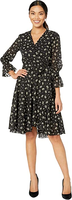 Black/Ivory Ditsy Floral