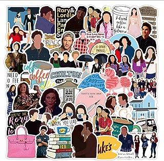 ملصقات Gilmore للفتيات من المسلسل التليفزيوني الأمريكي 50 قطعة للكمبيوتر المحمول وغرفة النوم والخزانة والسيارة والدراجة ال...