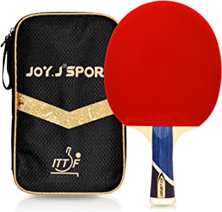Joy.J Sport Professional 9-Ply Wood Table Tennis Paddle, ITTF Approved Ping Pong Racket with Storage Bag, Perfect for Intermediate and Advanced