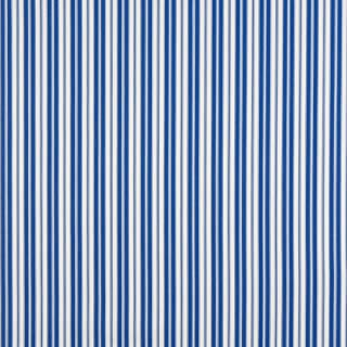 B461 Blue Ticking Striped Indoor Outdoor Marine Scotchgard Acrylic Upholstery Fabric by The Yard