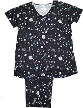 Stars & Planets Black Soot 2 Piece Knit Pajama Sleep Set