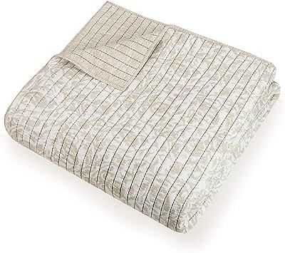 Presidio Square Collection Eden Cotton Gauze Quilt, King, Taupe