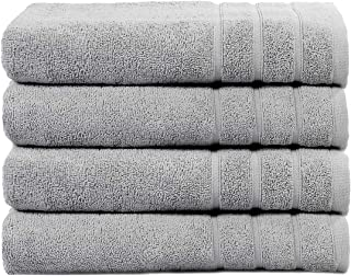 Cleanup Towels Set of 4 Bath Towels 130 cm x 70 cm, 550 GSM Premium Terry Cotton Highly Absorbent Towels for Bathroom, Sho...