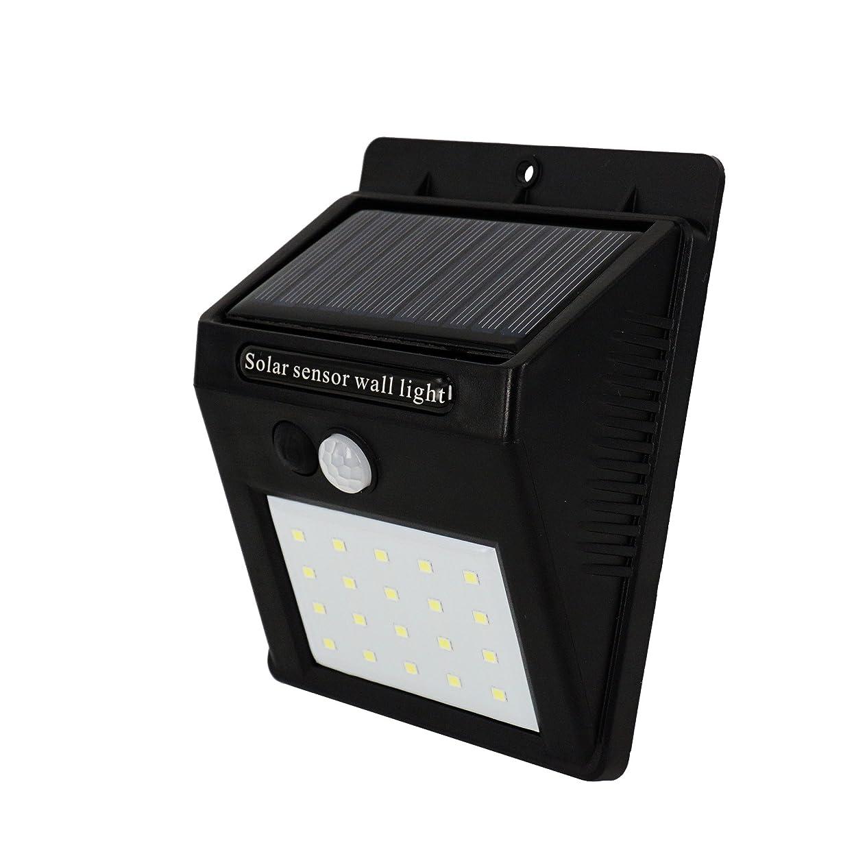 ペフ大破戸口WithProject LEDソーラーセンサーライト ワイヤレス 人感明暗センサー 3パターン切替点灯モード 防犯灯 外灯