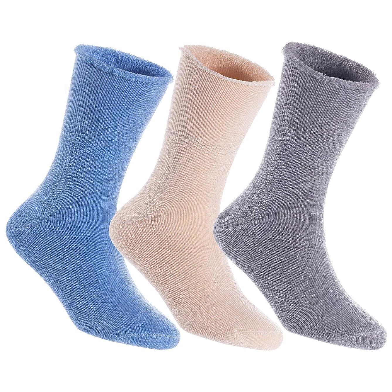 Lian LifeStyle Unisex Children's Wool Blend Crew Socks LK0601 Size 0M-11Y