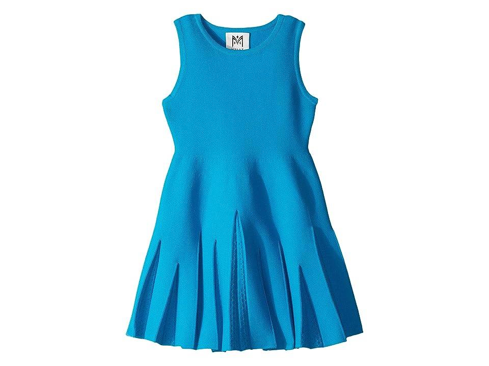 Milly Minis Pointelle Godet Flare Dress (Toddler/Little Kids) (Aqua) Girl