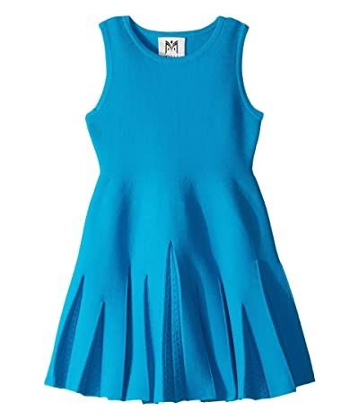 Milly Minis Pointelle Godet Flare Dress (Toddler/Little Kids) (Aqua) Girl