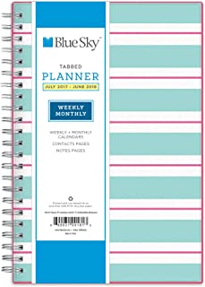Blue Sky 2017-2018 Academic Year Weekly & Monthly Planner, Twin-Wire Bound, 5