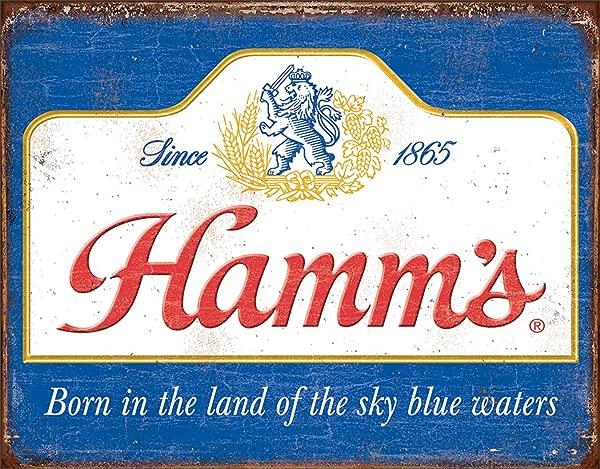Desperate Enterprises Hamm S Beer Sky Blue Waters Tin Sign 16 W X 12 5 H