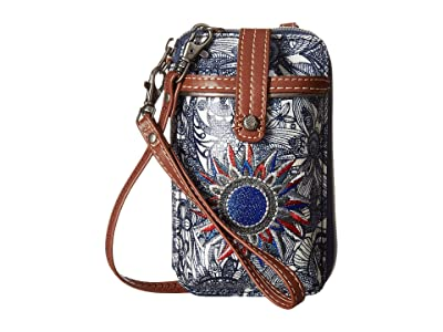 Sakroots Artist Circle Smartphone Wristlet (Navy Spirit Desert) Wristlet Handbags