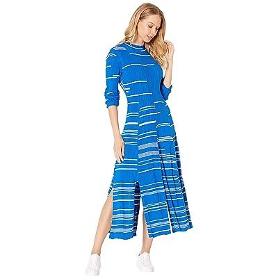 BCBGMAXAZRIA Day Long Sweater Dress (French Blue Combo) Women