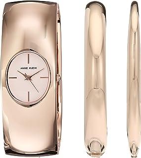Anne Klein Women's Japanese-Quartz Watch with Alloy Strap, Rose Gold, 22 (Model: AK/2636RGST)