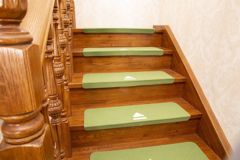 Juego de 7 almohadillas adhesivas antideslizantes GUSJ; alfombrilla para escalera, para interior luminoso, resistente al silencio,