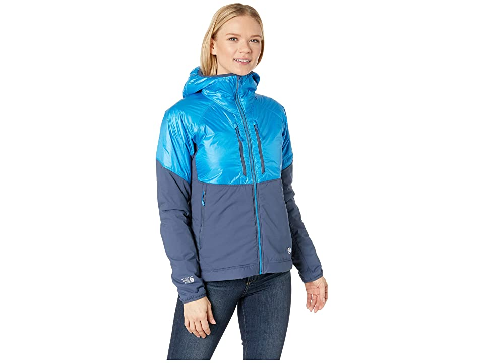 Mountain Hardwear Aostatm Hooded Jacket (Prism Blue) Women