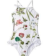Oscar de la Renta Childrenswear - Stripped One-Piece Swimsuit (Toddler/Little Kids/Big Kids)