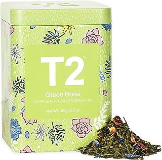 T2 Tea Green Rose Green Tea, Loose Leaf Green Tea in Limited Edition Tin, 100 g