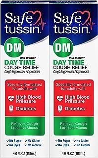 Safetussin DM Cough Suppressant/ Expectorant Mint Flavor 4 oz (Pack of 2)