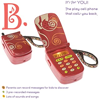 B. toys – Hellophone Toy Cell Phone – Kids Play Phone with Light Sounds and Songs – Toddler Toy Phone with Message Re...