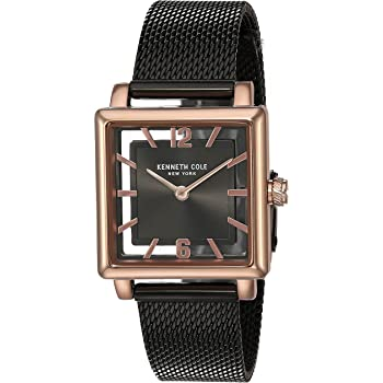 Kenneth Cole New York Women's Transparency Japanese-Quartz Watch with Stainless-Steel Strap, Black, 15.2 (Model: KC50788002)