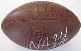 Nnamdi Asomugha Oakland Raiders Cal Bears, Signed, Autographed, NFL Football, a COA with the Proof Photo will be Included