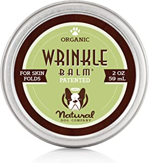 Natural Dog Company - Wrinkle Balm   Protects Dog's Skin Folds, Treats Dermatitis, Redness, Chafing, Inflammation   Organic, All-Natural Ingredients, Perfect for Bulldogs