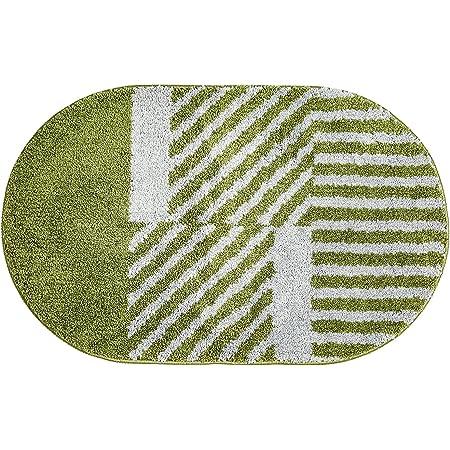"""Door Mat Indoor Outdoor Durable Rubber Doormat, 19.7""""x31.5"""", Waterproof, Easy Clean Striped Door Floor Mat for Entry, Bedroom , Bathroom,Patio (Green)"""