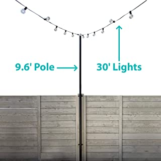 Iyn Stands Outdoor String Light Pole Stand