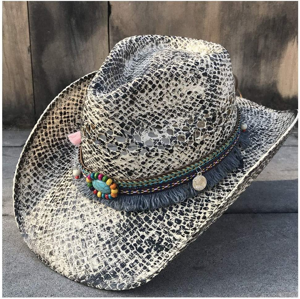 Straw Hat for OFFicial Women Western Elegant Cowboy Cowgirl Long-awaited Sombrero