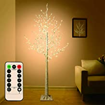 Big Sale! 5 FT Birch Tree Light 305 pcs LEDs Warm White 8 Flashing Modes Remote Dimmable Lighted Trees for Home Decor Part...