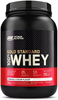 Gold Standard 100% ホエイ プロテイン クッキー&クリーム 907g (2lbs) [米国メーカー正規品] [海外直送品]