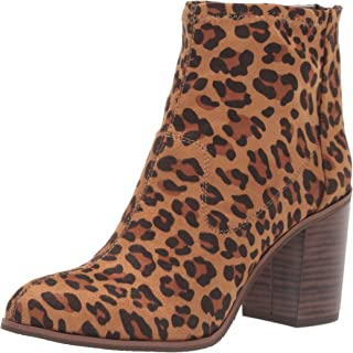 BC Footwear Women's Ringmaster Ankle Boot, Leopard, 8 B US