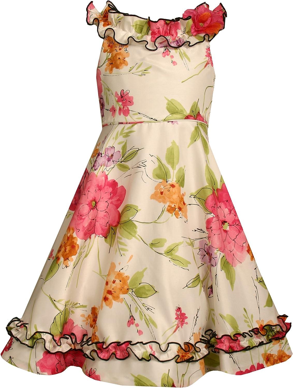 Baltimore Mall Ranking TOP12 Bonnie Jean Little Girls' Sleeveless Dress Print Shantung Floral