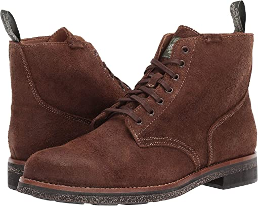 Chocolate Brown Roughout Suede