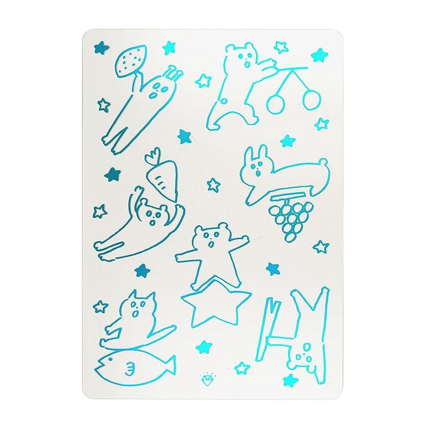 忌避剤移行する充実AIUEO A6 手帳用下敷き【スター クリア/STAR CR】 ASJS-02