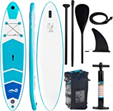 """Sponsored Ad - FUNPENY Inflatable Stand Up Paddle Boards, 10' x 32"""" x 6"""" Non-Slip Paddle Board for Adults and Youth, Wide ..."""